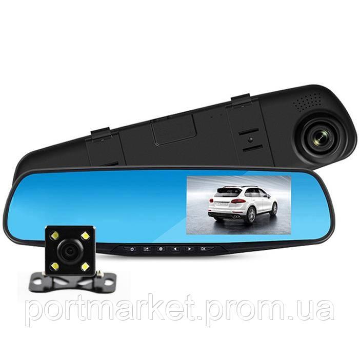 Автомобильный регистратор зеркало с двумя камерами DVR