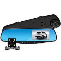 Автомобильный регистратор зеркало с двумя камерами DVR, фото 1