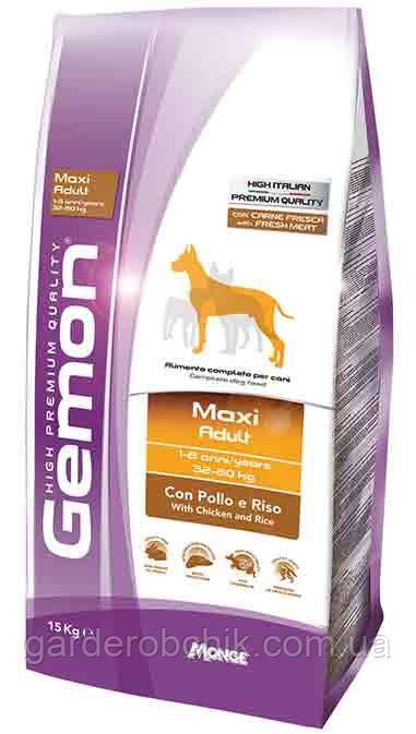 Корм для  собак GEMON Maxi Adult with Chicken and Rice, Гемон с курицей для взрослых собак крупных пород