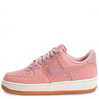d88c9522 Кроссовки женские розовые кожаные Nike Air Force 1 07 Premium