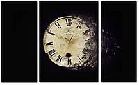 """Модульные часы - картина """"Ретро"""" 110х70 см на холсте"""
