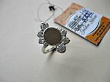 Серебряное кольцо с золотыми вставками 4.69 г. 17 р. СЕРЕБРО 875* + ЗОЛОТО 585*, фото 4