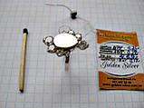 Серебряное кольцо с золотыми вставками 4.69 г. 17 р. СЕРЕБРО 875* + ЗОЛОТО 585*, фото 9