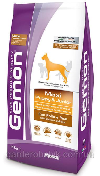 Корм для собак GEMON Maxi Puppy & Junior with Chicken and Rice, Гемон курица и рис для щенков крупных пород