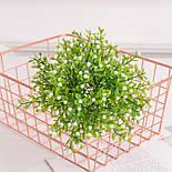 Ветка зелени декоративная пластиковые ягодки и самшит 10 шт., фото 8