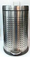 Ведро нержавеющее перфорированное для мусора с педалю V 11000 мл;H 400 мм (шт)