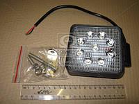 Фара LED квадратная 27W, 9 ламп, 110*164мм, узкий луч 12/24V (ТМ JUBANA) 453701039