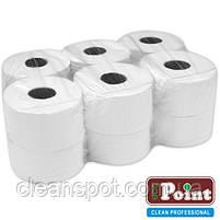 Туалетная бумага джамбо белая 1-шар 200 м. Eco Point Natural, фото 2