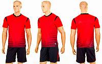 Футбольная форма подростковая Brill 04-R (PL, р-р (24-30) 120-150см, красный, шорты черные)