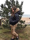 Детский зимний теплый костюм куртка+брюки плащевка синтепон 250 подкладка мех рост:116,122,128, фото 4