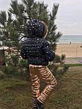Детский зимний теплый костюм куртка+брюки плащевка синтепон 250 подкладка мех рост:116,122,128, фото 8