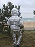 Детский зимний теплый костюм куртка+брюки плащевка синтепон 250 подкладка мех рост:116,122,128, фото 6