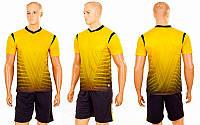 Футбольная форма подростковая Brill 04-Y (PL, р-р (24-30) 120-150см, желтый, шорты черные )