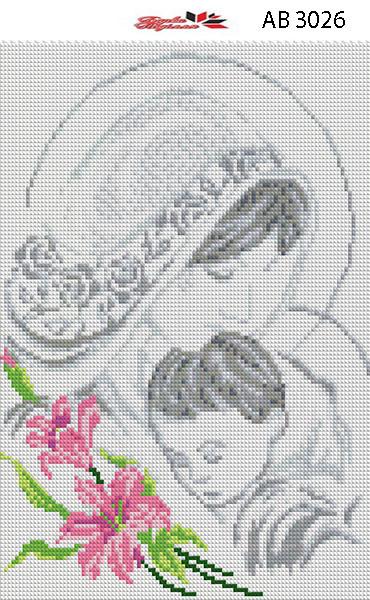 Алмазная вышивка АВ 3026  Мадонна  (25,3*35,2см)
