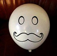 Воздушный шарик Усы 4 цвета 12 дюймов