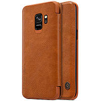 Кожаный чехол (книжка) Nillkin Qin Series для Samsung Galaxy S9