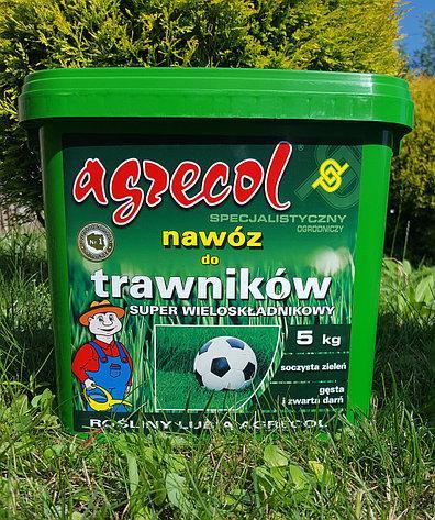 Удобрение Agrecol для ГАЗОНОВ супер многокомпонентное 5кг (гранулированное)