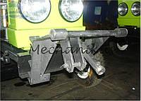 Крепление роторной косилки к мототрактору