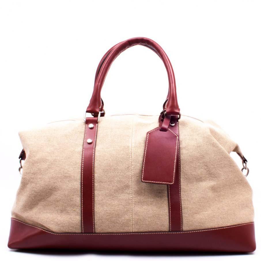 8c0f47e33e8c Кожаная дорожная сумка Valenta ткань + кожа ВМ70622710 - Arion-store -  кожгалантерея и аксессуары
