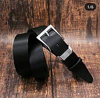 Женский кожаный ремень 35 мм чёрный