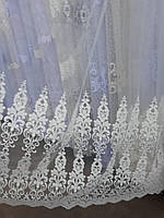 Тюль Фатин ( Турция вышивка), фото 1