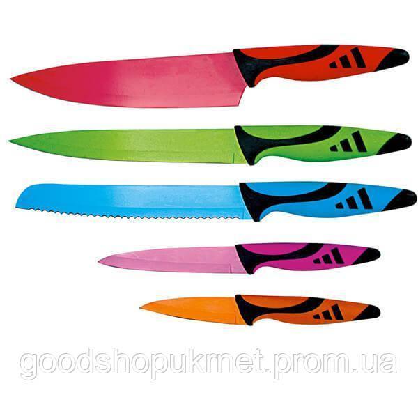 Набор Ножей Rainbow Titanium coating  5 пред в блистере