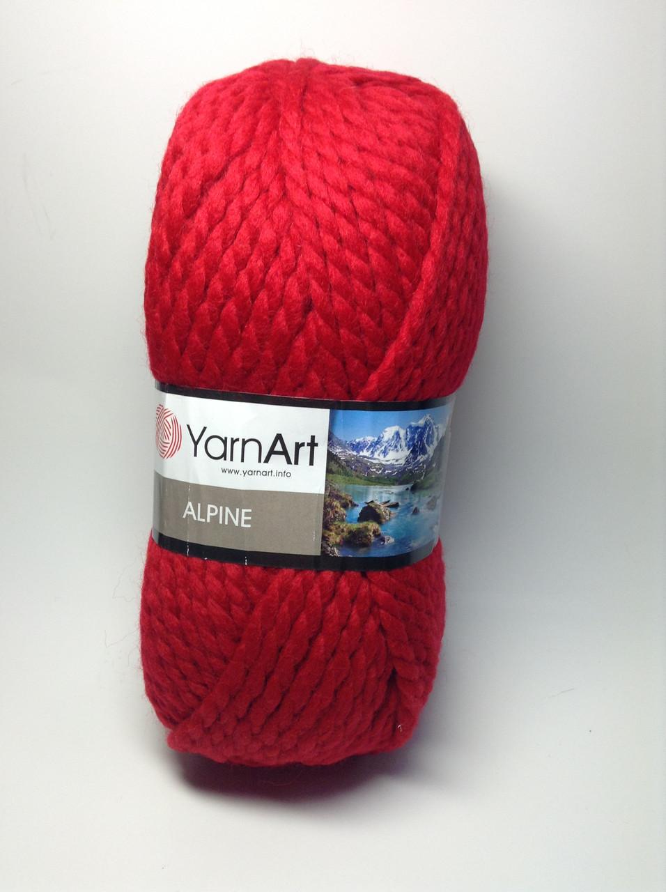 Пряжа alpine - колір червоний