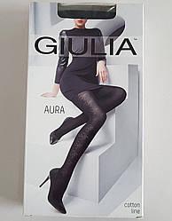 Женские хлопковые колготки с узором «AURA» 120 DEN