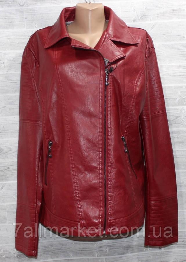 f2fcf617 Куртка женская кожзам KASIQI полубатальная, размеры 50-60 (2цв) Серии
