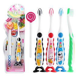 Бамбукова Зубна щітка дитяча плюс языкачистка. Комплект. Корея