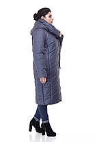 Пуховик женский синий размер 42-54, фото 2