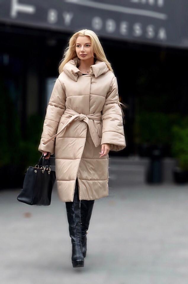Женское пальто-пуховик, фото 1