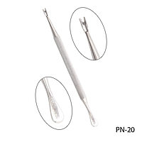 Пушер для кутикулы PN-20 двухсторонний с триммером, #S/V