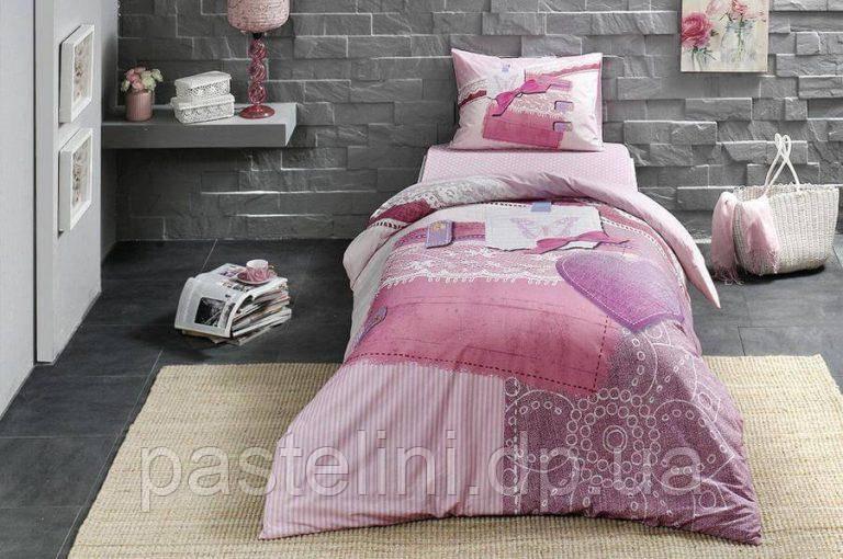 Тас Sherly pembe подростковое постельное бельё простынь на резинке
