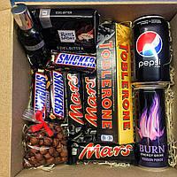 Подарочный набор Сладостей ДЛЯ МУЖЧИН. Sweet Box Black ( Сладкий бокс для друга )