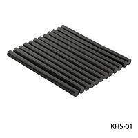 Смола (кератиновые палочки) KHS-01 для наращивания волос, цвет — черный (10шт в пак), #S/V