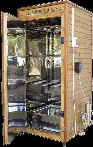 Электростатическая Коптильня 1300л холодного и горячего копчения + просушка (Нержавейка внутри, крыша плоская), фото 2
