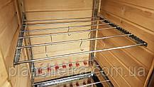 Коптильня 250л холодного та гарячого копчення + просушування (Вільха всередині, дах будиночком), фото 3