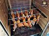 Коптильня 250л холодного та гарячого копчення + просушування (Вільха всередині, дах будиночком), фото 4