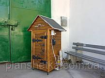 Коптильня 250л холодного и горячего копчения + просушка (нержавейка внутри, крыша домик), фото 3