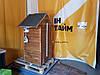 Коптильня 250л холодного и горячего копчения + просушка (нержавейка внутри, крыша домик), фото 4
