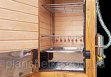 Электростатическая Коптильня 250л холодного и горячего копчения + просушка (Ольха внутри, крыша домиком), фото 2