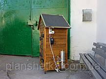 Электростатическая Коптильня 250л холодного и горячего копчения + просушка (Ольха внутри, крыша домиком), фото 3