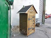 Электростатическая Коптильня 250 л холодного и горячего копчения + просушка (нержавейка внутри, крыша домиком, фото 2
