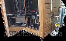 Коптильня 550 л холодного та гарячого копчення + просушування (нержавійка всередині, дах плоский), фото 3