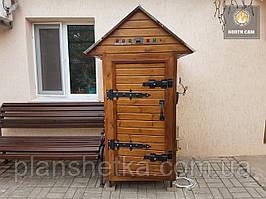 Коптильня 550л холодного и горячего копчения + просушка (Нержавейка внутри, крыша домиком)