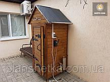 Электростатическая Коптильня 550л холодного и горячего копчения + просушка (Нержавейка внутри, крыша домиком), фото 3