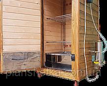 Коптильня 1300л холодного и горячего копчения + просушка (Ольха внутри, крыша плоская), фото 3