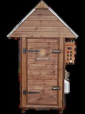 Коптильня 1300 л холодного та гарячого копчення + просушування (Вільха всередині, дах будиночком), фото 3
