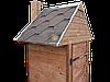 Коптильня 1300 л холодного та гарячого копчення + просушування (Вільха всередині, дах будиночком), фото 4